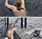 Norwegian Man Saves A Duck