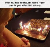 When The Candles Are Not The Right Ones