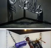 Stunning 3D Graffiti That Seems To Float In The Air