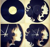 Clocks Made From Vinyl Records