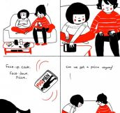 24 relationship comics that illustrate the beauty in the mundane moments