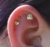 Pac-Man Ear Piercing Win