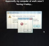 System Error: Windows Can't Even