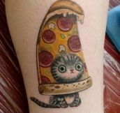What Kind Of Tattoo Do I Want? Well, I Like Cats And Pizza