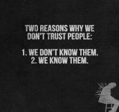 Reasons We Don't Trust People
