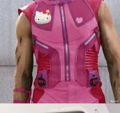 Superheroes With Sparkly Pink Costumes