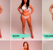 """This Woman Had Her Body Photoshopped To Be """"Beautiful"""" In 18 Different Countries."""