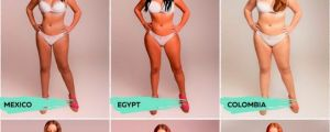 "This Woman Had Her Body Photoshopped To Be ""Beautiful"" In 18 Different Countries."
