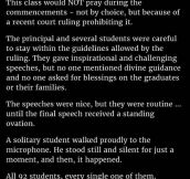 Students Were Warned Not To Pray At Their Graduation Ceremony. But What This Young Man Did Is Genius.