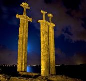 Sverd i fjell Giant Sword Monument in Norway