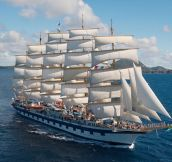 The world's largest sailing ship (The Royal Clipper)