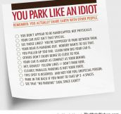 Hey You, You Suck At Parking