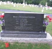 "Backside of Mom's Gravestone. Everytime someone asked for her cookie recipe, she said, ""Over my dead body!"""