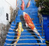 Stairs turned into amazing piece of art