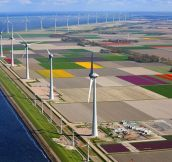 Wind turbines in the Netherlands