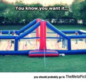 Epic Bouncy Volleyball Court