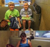 Children Read To Shelter Kitties