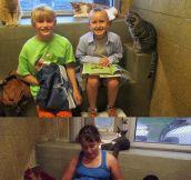 Children Read To Shelter Kitties
