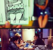 Artist Turns Everyday Scenes Into Sketches