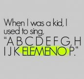 Singing the alphabet