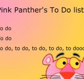 Pink Panther And His List