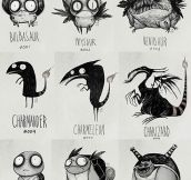 Tim Burton Draws His Version Of Pokemon