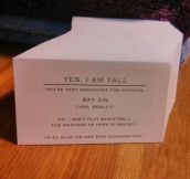 Tall People Card