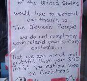 Jewish God insists…