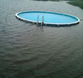 Louisiana, the only place where sometimes you have to swim to get to the swimming pool