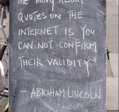 The thing about quotes on the Internet…