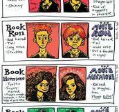 Book Harry Potter Vs. Movie Harry Potter