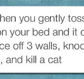 Tossing Your Phone On The Bed