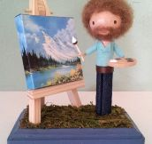 Miniature Bob Ross