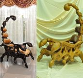 Wonderful Wooden Scorpion Chairs