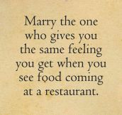 The One You Should Marry