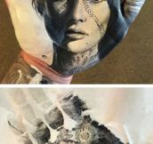Realistic Portraits Painted On Hands
