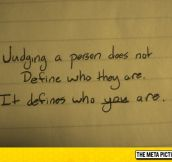 Judging Someone