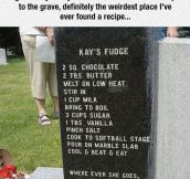 Taking A Recipe To The Grave