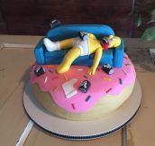 Epic Homer Cake