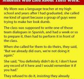 Teacher Gets The Best Revenge On Two Students Who Lied About Their Work.
