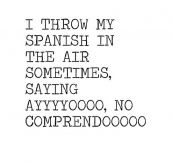 My Spanish In The Air