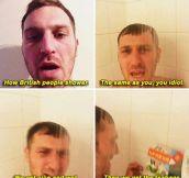 How British People Take Showers