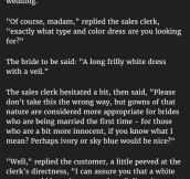 Woman Buys Gown For Her 4th Wedding. But Never Expected The Sales Clerk To Say This.