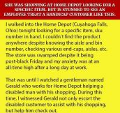 She Was Shopping At Home Depot Looking For A Specific Item. But Is Stunned To See An Employee Treat A Handicap Customer Like This.