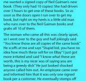He Saw This Rude Man Pick Up 10 Signed Books To Sell On Ebay & Genuine Customers Couldn't Get One. What The Store Staff Did Is Genius.