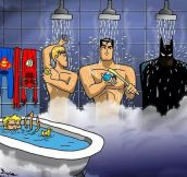 Justice League Shower, Look At Aquaman