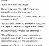 A Lawyer Was Trying To Act Smart With A Cop. What Happened Next Is Priceless.