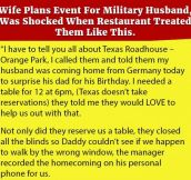 Wife Plans Event For Military Husband, Was Shocked When Restaurant Treated Them Like This.