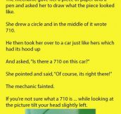 The Mechanic Looked Confused When A Blonde Woman Asked For A Missing Part In Her Car. The Reality Is Hilarious.