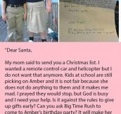 A Little Boy Asked Santa For Christmas Toys But Then Realized A Student Being Bullied Needed Help More. The Little Boy's Response Is Gold.